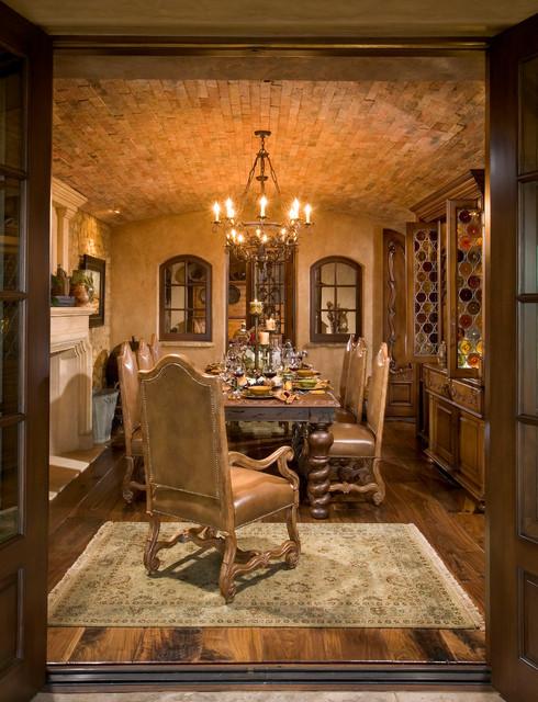 anaheim hills tuscan villa mediterranean dining room