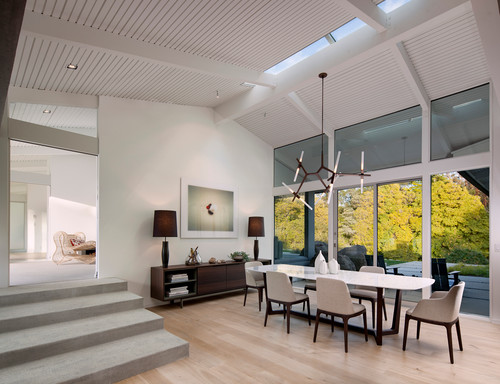 modern dining room with architectural light cheap and stylish lighting