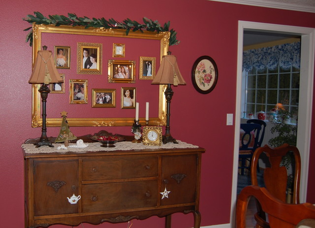 Antique Sideboard/Buffet & Photo Collage - Traditional - Dining Room ...