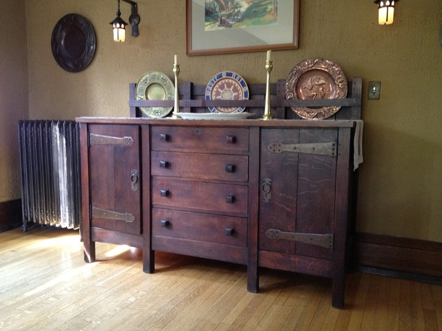 Antique stickley sideboard for Traditional dining room sideboard