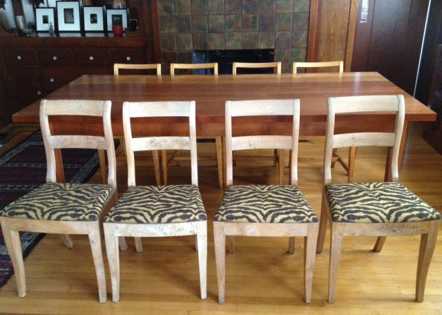 antique swedish chairs contemporary dining room los angeles by