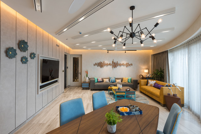 15 Of The Best False Ceiling Designs From Indian Open Plan Spaces