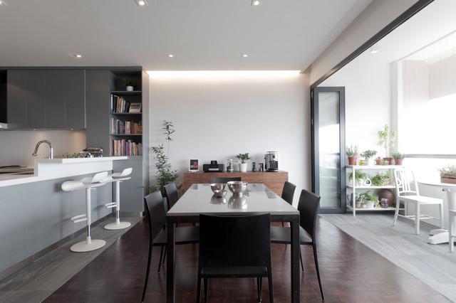 Apartment at Ridgewood - Singapore contemporary-dining-room