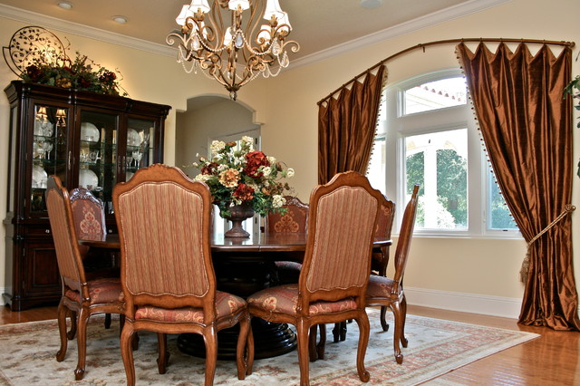 Arch Drapery Rod Traditional Dining Room Denver By