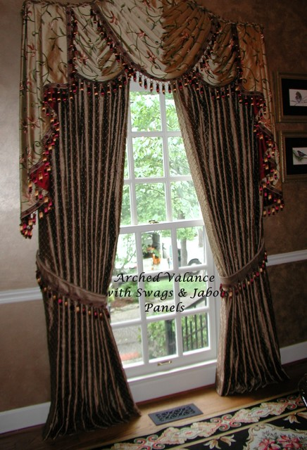 Arched Window Treatments Eclectic Dining Room Other Metro By The Interiors Workroom Inc