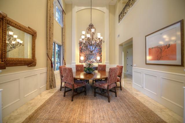Trendy dining room photo in Orange County