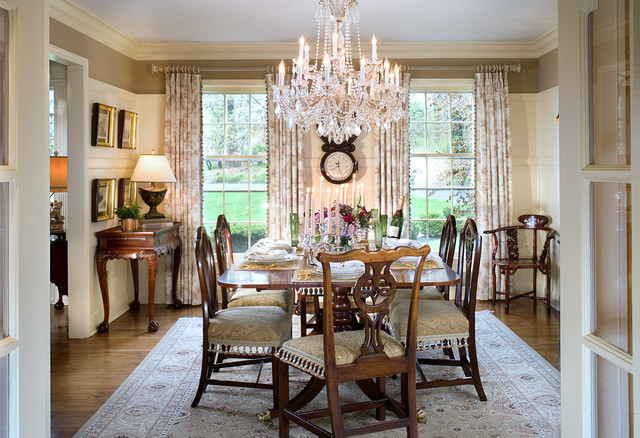Architectural details add elegance and sophistication to the NJ Dining Room traditional-dining-room