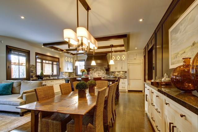 Architectural Elegance Craftsman Dining Room Calgary By Rockwood Custom Homes