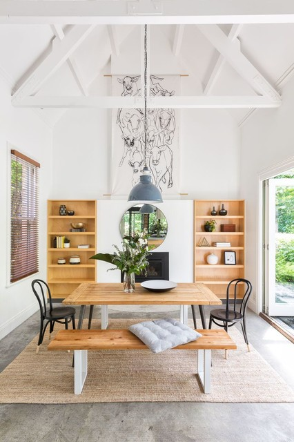 Architectural Masterpiece in Northcote country-dining-room