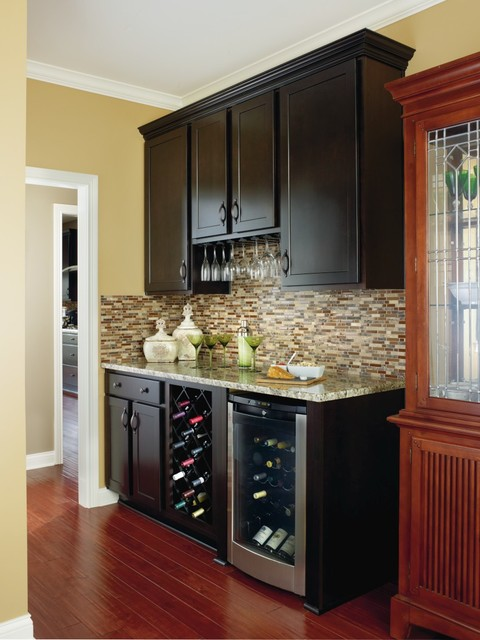 Aristokraft Benton Home Bar Cabinetry Dining Room