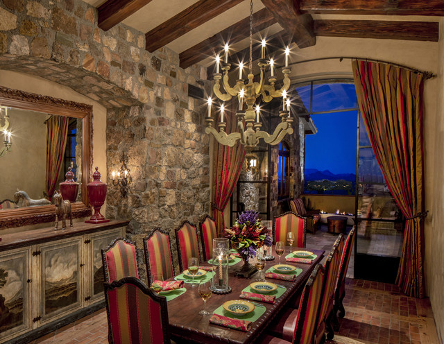 Charmant Arizona Tuscan Southwestern Dining Room