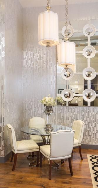 art deco dining room denver by finial design