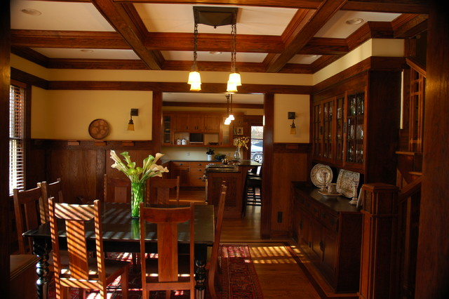 Arts Crafts Traditional Dining Room