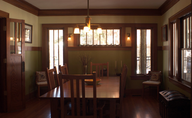 Arts And Crafts Kitchen And Dining Room Contemporary Dining Room