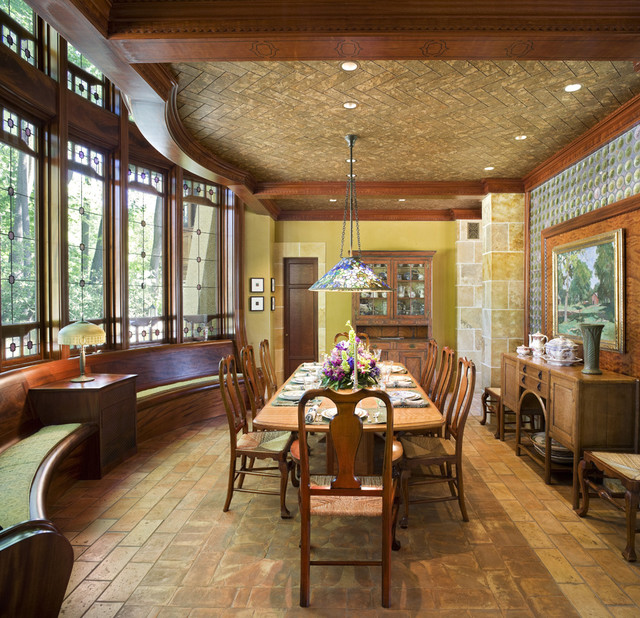 arts and crafts room ideas arts amp crafts residence dining room traditional dining room 5904