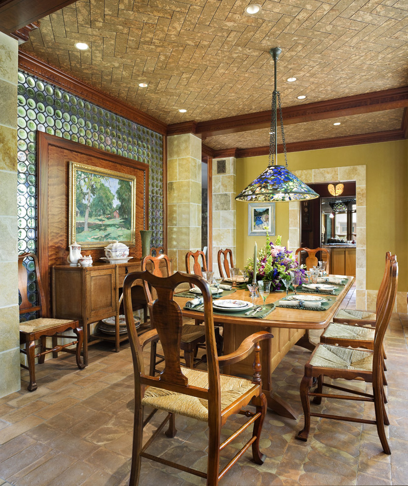 Dining room - traditional dining room idea in Philadelphia with green walls