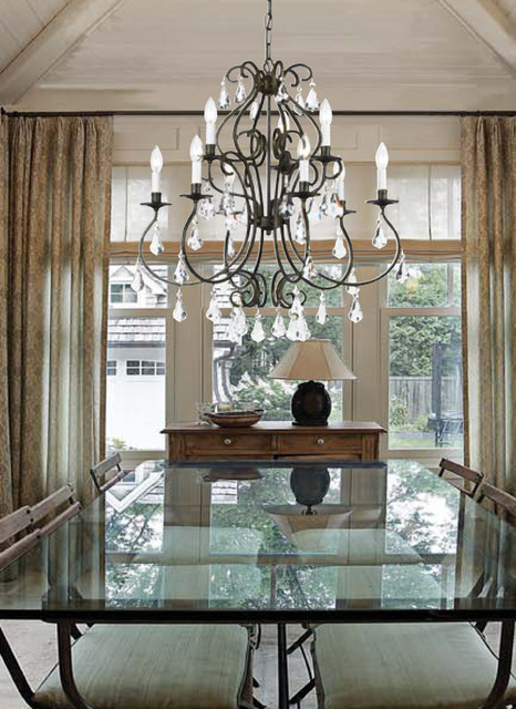 Ashton Collection 9 Light 25 English Bronze Chandelier With Clear Hand Cut Crys Traditional