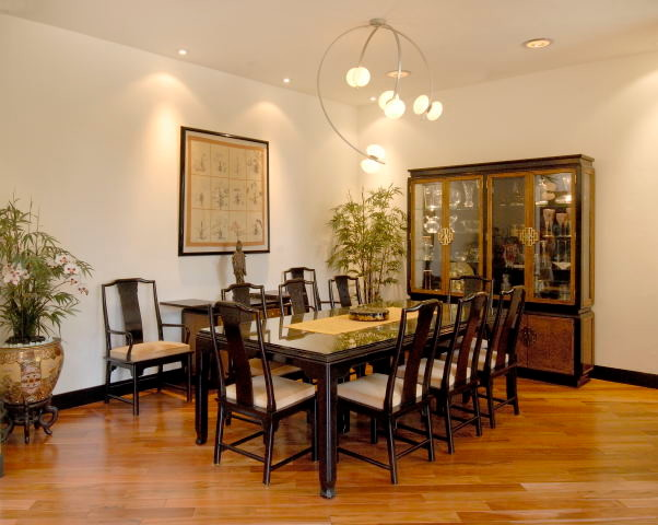 asian contemporary makeover asian dining room other