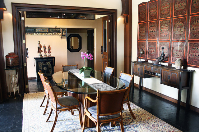 Asian home decor for Dining room design questions