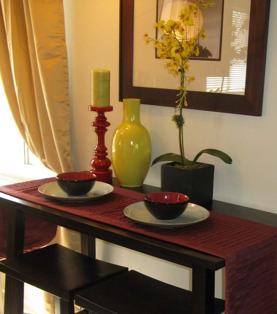 Asian tablescape asian dining room los angeles by for Dining room tablescapes ideas