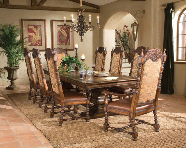 Aspen Rectangular Dining Table- 96″ - Mediterranean - Dining Room ...