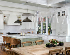 Atherton Estate Luxury Home by Markay Johnson Construction rustic-kitchen