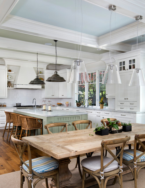 Delightful Lighting Over Kitchen Table Part - 8: Pendant Lights Over The Table