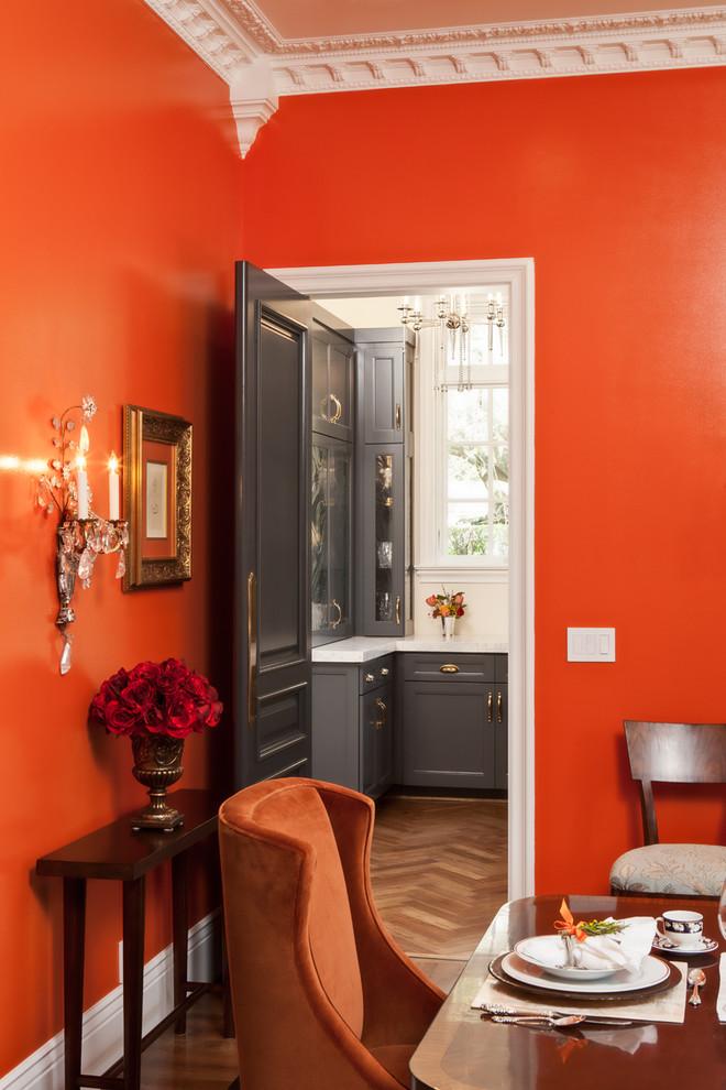 Dining room - traditional dining room idea in San Francisco