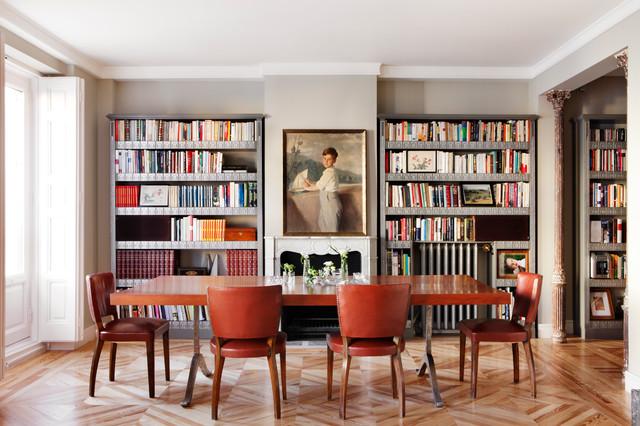 Tico en madrid classico sala da pranzo madrid di for Sala pranzo libreria