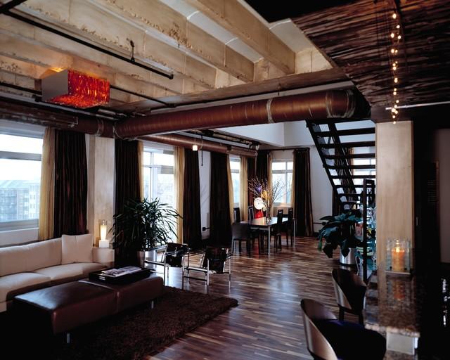 Atlanta loft style contemporary-dining-room