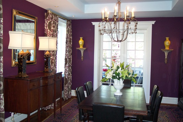 Aubergine for 8x8 dining room