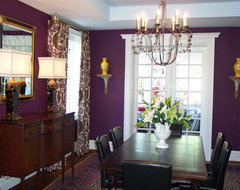 Aubergine traditional dining room