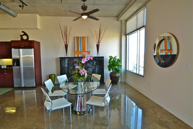 Austin City Lofts Staging Dining Area modern-dining-room