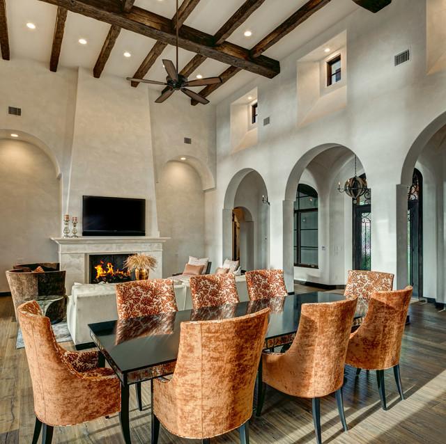 Austin lake residence mediterranean dining room for Mediterranean dining room design ideas