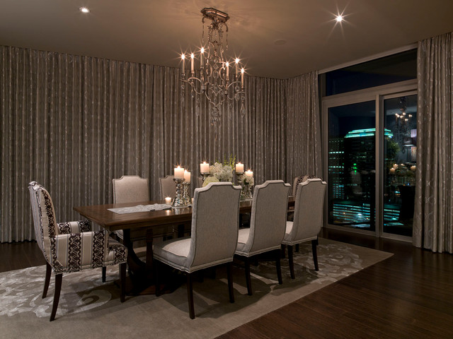 Austonian luxury condo contemporary dining room for Luxury dining room design