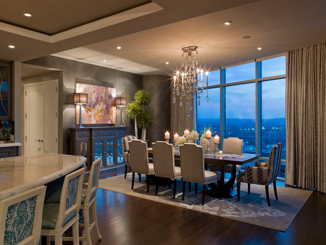austonian luxury condo - contemporary - dining room - austin -