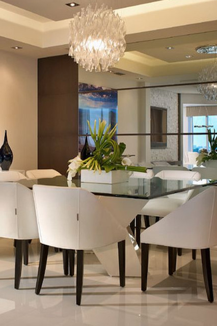 AVENTURA MIRROR WALL PANELS Contemporary Dining Room