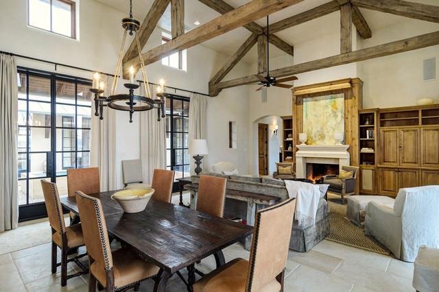 Award Winning Lake Travis Residence Rustic Dining Room