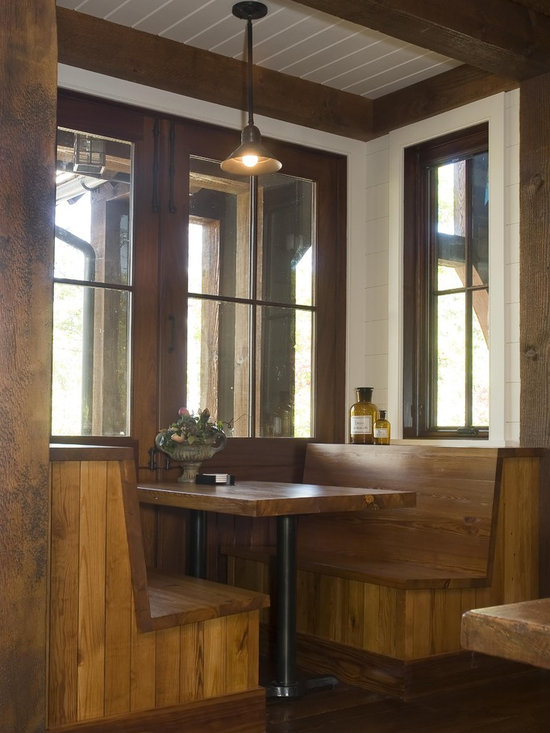 rustic restaurant booth seating home design photos decor ideas