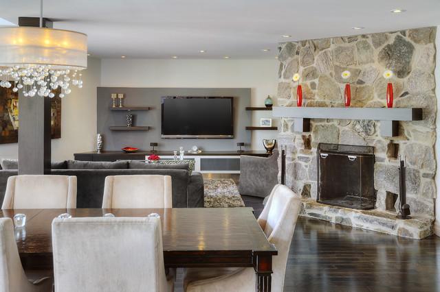 1247 - Living/Dining Area - Custom mantle modern-dining-room
