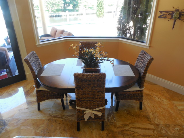 Captivating BANANA LEAF DINING CHAIRS Tropical Dining Room Part 6