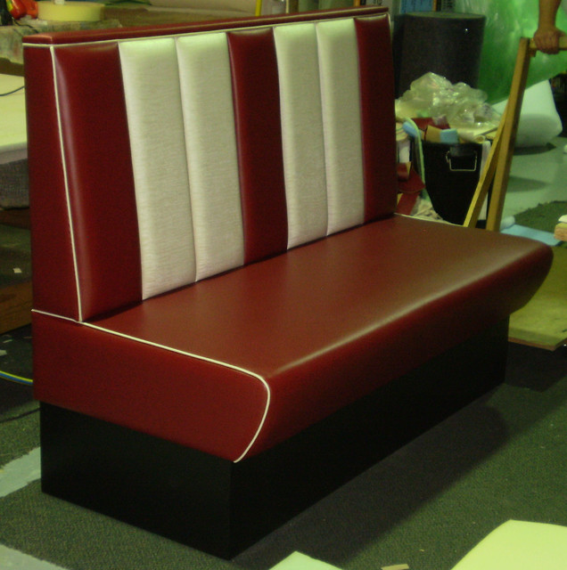 banquette booth seats by jaro upholstery traditional dining room