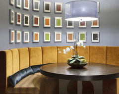 Banquette contemporary dining room