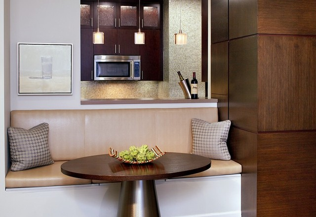 Banquette contemporary-dining-room