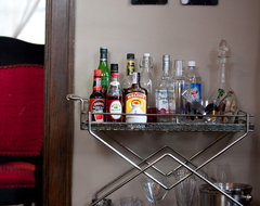 Bar Cart eclectic-dining-room