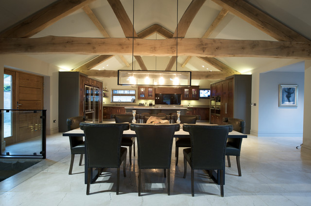 Barn conversion contemporary dining room other metro