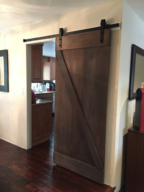 rustic barn door dining room san francisco by dan