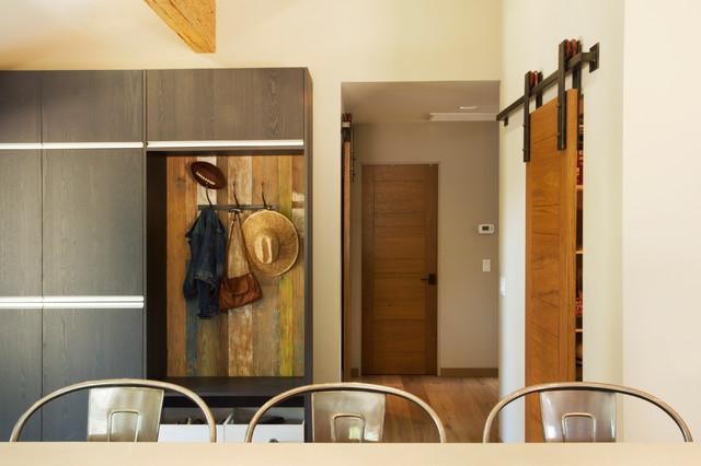 Barn door hardware installations for Barn door dining room