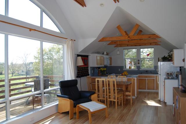 Barndominium In Texas Contemporary Dining Room