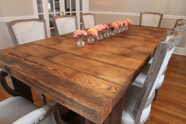 Barnwood Table Traditional Dining Room St Louis By